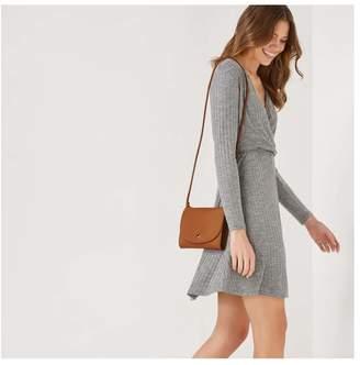 Joe Fresh Women's Crossbody Bag with Button Closure, Burnt Orange (Size O/S)