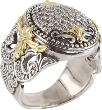 Konstantino Asteri Marquise Ring w/ Pave White Diamonds, Size 7