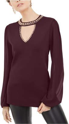 INC International Concepts Inc Studded Keyhole Sweater
