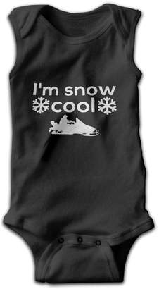 MPpka I'm Snow Cool Snowmobile Baby Boy' Girl' Sleeveless Bodysuit Onesies