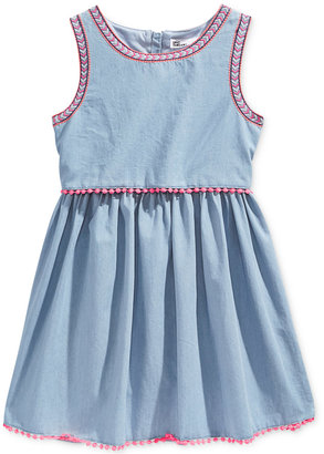 Epic Threads Denim Popover Dress, Big Girls (7-16), Only at Macy's $42 thestylecure.com