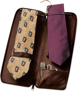 Royce Leather Tie Travel Case and Jewelry Storage Case