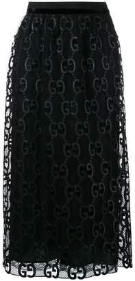 Gucci Macramé midi skirt