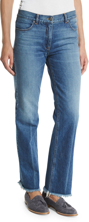 TheoryTheory Ossella Carlisle-Wash Denim Jeans, Indigo