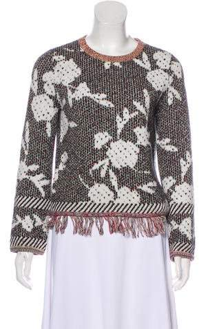 See by Chloé Long Sleeve Crew Neck Sweater