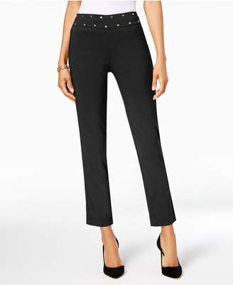 JM Collection Petite Studded Tummy-Control Pants, Created for Macy's