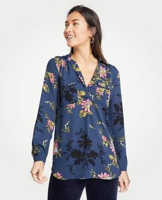 Ann Taylor Floral Camp Shirt