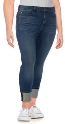 NYDJ Plus Alina Wide-Cuff Ankle Jeans
