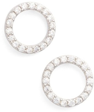Women's Jules Smith Betty Pave Stud Earrings $50 thestylecure.com