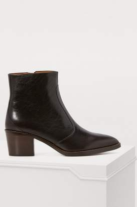 Vanessa Bruno Zipped leather cowboy boots