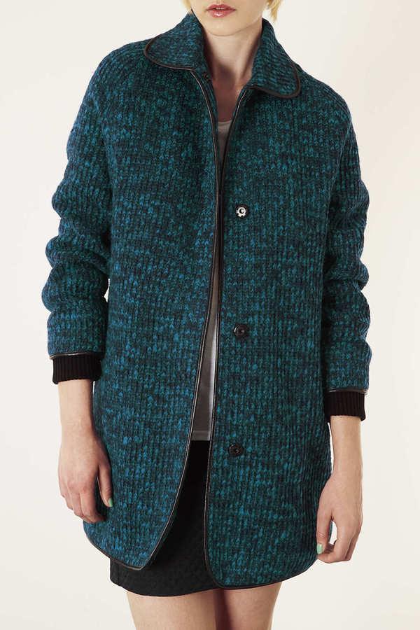 Topshop Knitted Coatigan