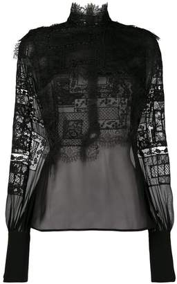 Ermanno Scervino lace embroidered blouse