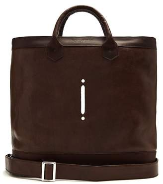 Lee Passavant And Scier Edition Leather Tote - Mens - Dark Brown