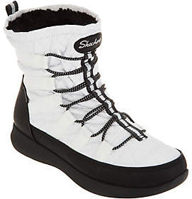 Skechers Waterproof Quilted Bungee Winter Boots