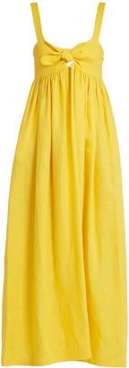 MARA HOFFMAN Tie-front midi linen dress $446 thestylecure.com
