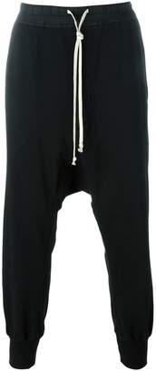 Rick Owens drop crotch cuff trousers