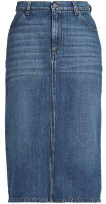 ALEXACHUNG Alexa Chung Faded Denim Skirt