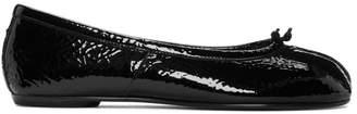 Maison Margiela Black Patent Tabi Ballerina Flats