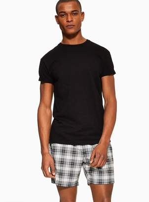 TopmanTopman Black and White Checked Shorts