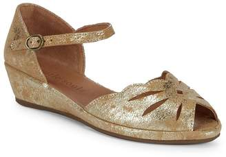 Gentle Souls Women's Lily Moon Metallic Wedges