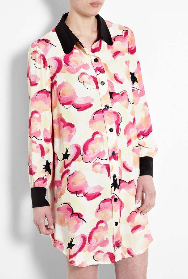 Sonia by Sonia Rykiel Cloud Print Shirt Dress