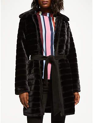 Y.A.S Yasasala Faux Fur Coat, Black