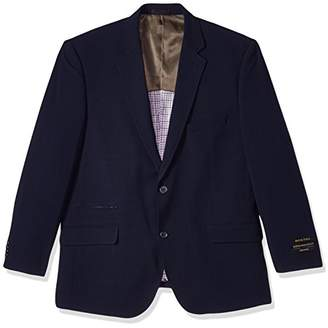 Alexander Julian Colours Men's Big & Tall Single Breasted Knit Travel Sportcoat