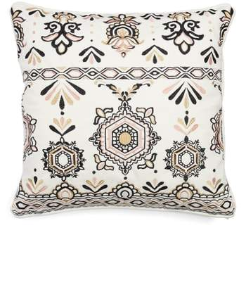 Embroidered Medallion Pillow