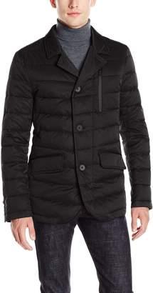 Tahari Men's Quilted Down Blazer Jacket