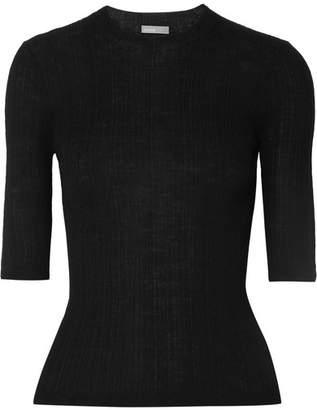 Vince Ribbed Wool Top - Black