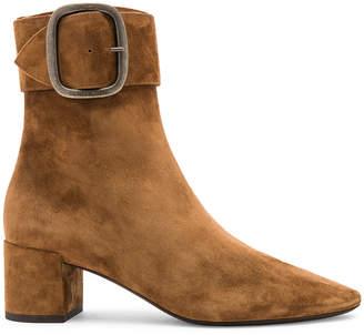 Saint Laurent Suede Joplin Buckle Ankle Boots