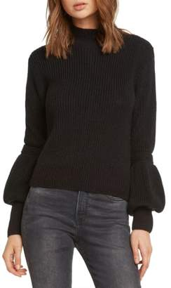 Willow & Clay Bishop Sleeve Back Cutout Sweater