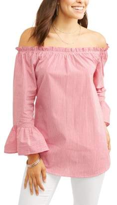 ALISON ANDREWS Alison Andrews Women's Off the Shoulder Ruffle Cuff Top