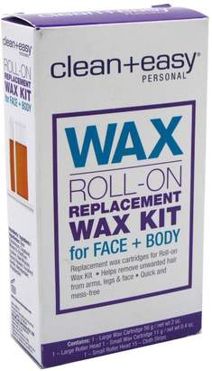 Clean + Easy Clean & Easy Clean+Easy Wax Roll-On Replacement Wax Kit Face/Body