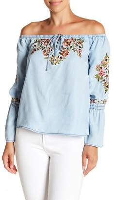 Cupcakes And Cashmere Adrien Off the Shoulder Top
