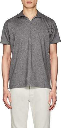 Barneys New York MEN'S COTTON JOHNNY-COLLAR POLO SHIRT