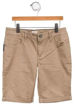 Armani Junior Boys' Mid-Rise Straight-Leg Shorts
