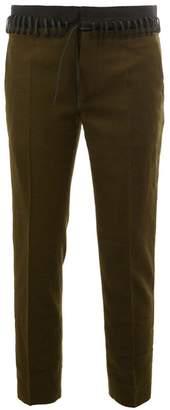 Haider Ackermann laced waistband trousers