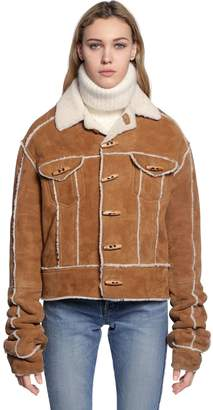 Saint Laurent Shearling Jacket W/ Toggles