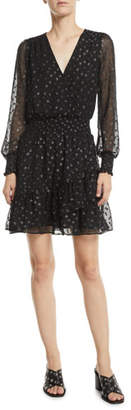 MICHAEL Michael Kors Long-Sleeve Ruffle Dress