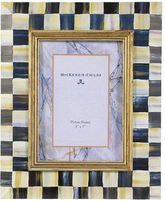 """Mackenzie Childs MacKenzie-Childs Courtly Check Picture Frame, 5"""" x 7"""""""