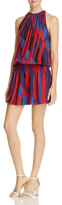 Ramy Brook Biza Geometric Print Silk Dress $395 thestylecure.com