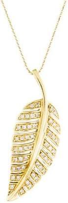 Jennifer Meyer Diamond Leaf Pendant Necklace