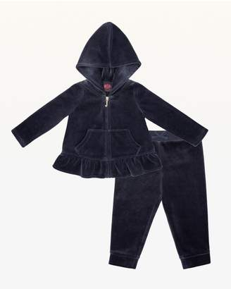 Juicy Couture Carnival Script Juicy Velour Peplum Track Set for Baby