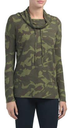 Camo Print Drop Shoulder Tunic