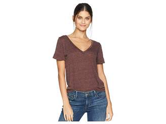 Chaser Tri-Blend Jersey Vent Back V-Neck Rolled Sleeve Tee