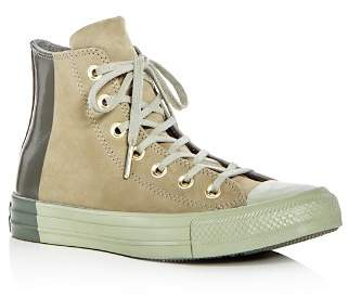Converse Chuck Taylor All Star Tonal Nubuck Leather High Top Sneakers