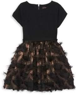 Imoga Little Girl's & Girl's Mesh-Trimmed Dress