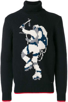 DSQUARED2 hiking intarsia turtleneck knit sweater