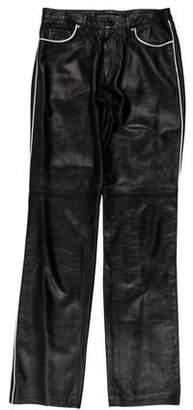 Ralph Lauren CollectionLeather Wide-Leg Pants